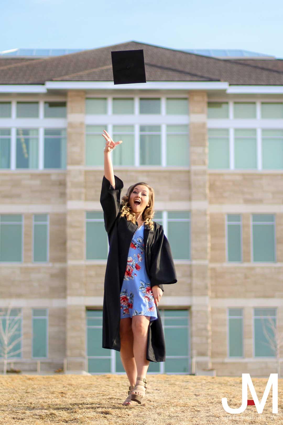 tossing graduation cap